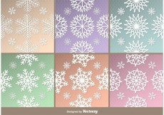 Free vector Frozen Snowflakes Patterns #18068
