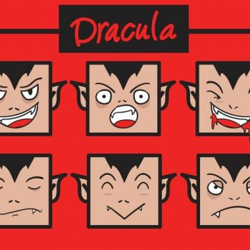 Free vector Funny Dracula Vector Faces #17881