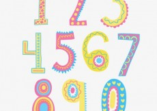 Free vector Funny hand draw numbers #12275