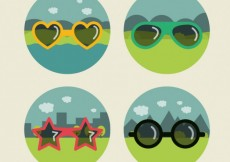 Free vector Funny sunglasses collection #17698