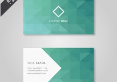 Free vector Geometrical business card in green tones #19171
