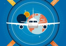 Free vector Global voyage infographic #17502