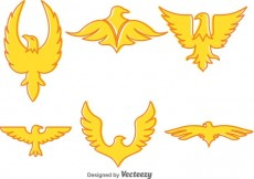 Free vector Golden Eagle Vector Icons #13425