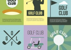 Free vector Golf club posters #17894