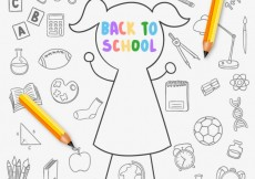 Free vector Hand drawn back to school background #12805