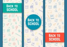 Free vector Hand drawn back to school banners #16499