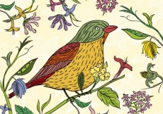 Free vector Hand drawn bird in spring time #19774
