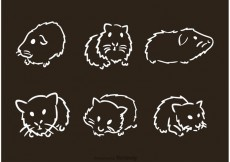 Free vector Hand Drawn Guinea Pig Vectors #17306
