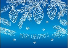 Free vector Hand Drawn Merry Christmas Pines #16101