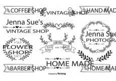 Free vector Hand Drawn Style Label Set #13343