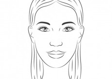 Free vector Hand drawn woman face #17191
