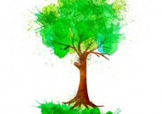 Free vector Hand painted tree #19207