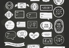 Free vector Handmade stamps for mail #16236