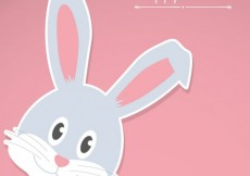 Free vector Happy easter bunny card #20222