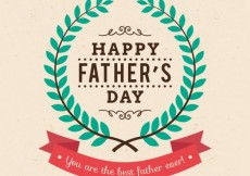 Free vector Happy fathers day card #17788