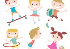 Free vector Happy kids #13948