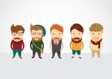Free vector Hipster characters #19011