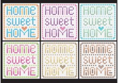 Free vector Home Sweet Home Cross Stitch Vectors #19857