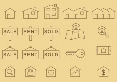 Free vector Home Thin Icons #19134
