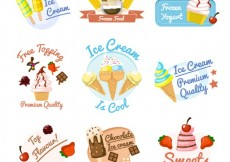Free vector Ice cream badges #13364