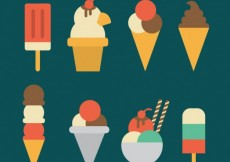 Free vector Ice cream icons #17700