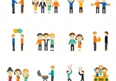 Free vector Icons of friendship concept #16909