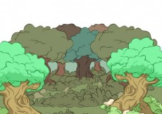 Free vector Illustrated forest #12299