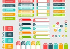Free vector infographic banner set #16286