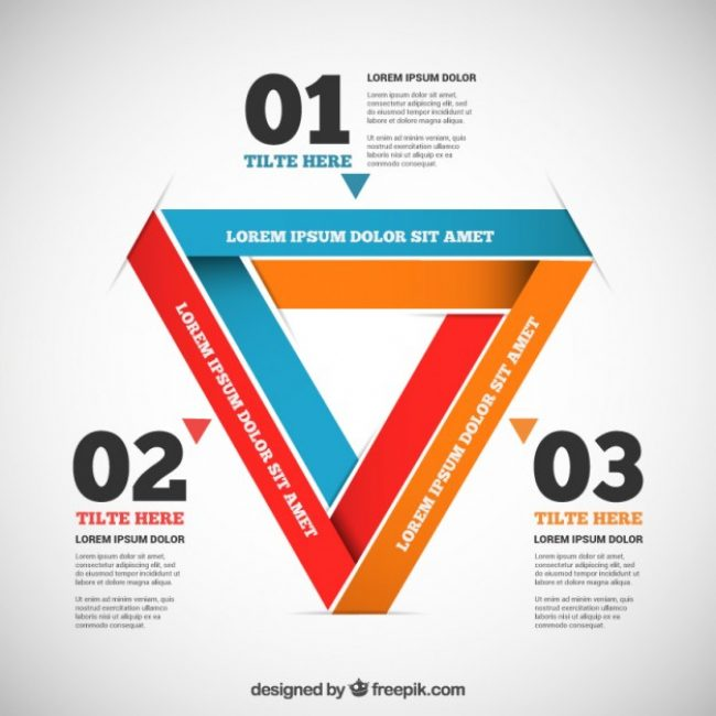 Free vector Infographic in triangular design #16707
