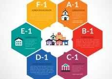 Free vector Infographic with hexagons #13608