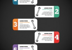Free vector Infographic with numbered banners #16709