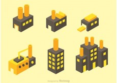 Free vector Isometric Factory Vector Icons #19577