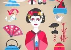 Free vector Japanese culture icons #17732