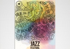 Free vector Jazz festival poster in artistic style #16977