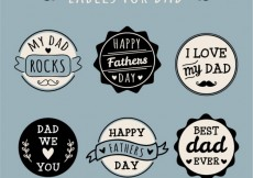 Free vector Labels for dad #15144