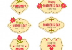 Free vector Labels for mothers day #14491