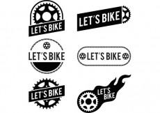 Free vector Lets Bike Bike Logo Vectors #15865