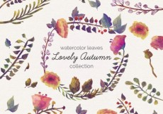 Free vector Lovely autumn leaves in watercolor style #12697