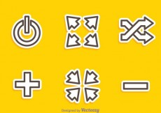 Free vector Media Player Outline Icons #16745