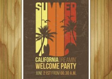Free vector Mockup of summer party poster #17209