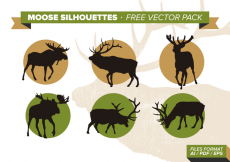 Free vector Moose Silhouettes Free Vector Pack #18706