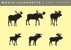 Free vector Moose Silhouettes Vector Free #14049