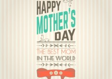 Free vector Mothers day card in retro style #17748