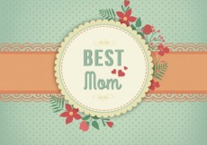 Free vector Mothers day card in vintage style #17587