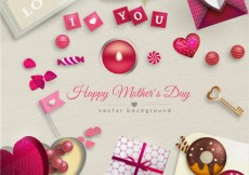 Free vector Mothers day card with gifts #17518