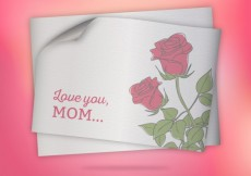 Free vector Mothers day card with roses #18257