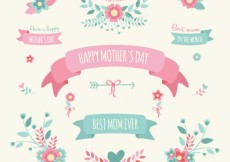 Free vector Mothers day decoration elements #17642