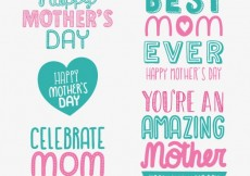 Free vector Mothers day lettering #19276