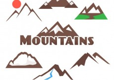 Free vector Mountains collection #20050
