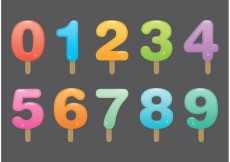Free vector Number Popsicle Vectors #19163